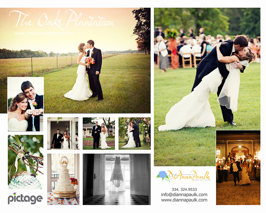 Wedding collages templates costumepartyrun montgomery al weddings the oaks plantation photography maxwellsz